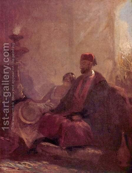 In the harem by Carl Spitzweg - Reproduction Oil Painting