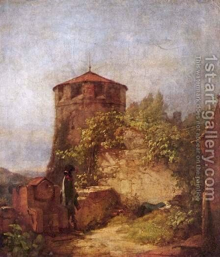 Sleeping guards by Carl Spitzweg - Reproduction Oil Painting
