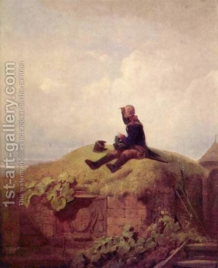 Once upon a time (the knitting outpost) by Carl Spitzweg - Reproduction Oil Painting