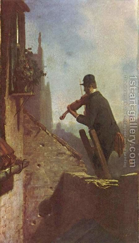The serenade 3 by Carl Spitzweg - Reproduction Oil Painting