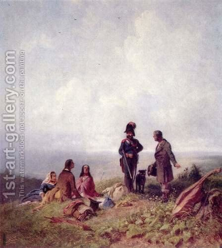 Where is the pass by Carl Spitzweg - Reproduction Oil Painting