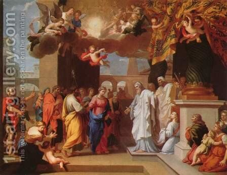 The Marriage of the Virgin by Jacques Stella - Reproduction Oil Painting