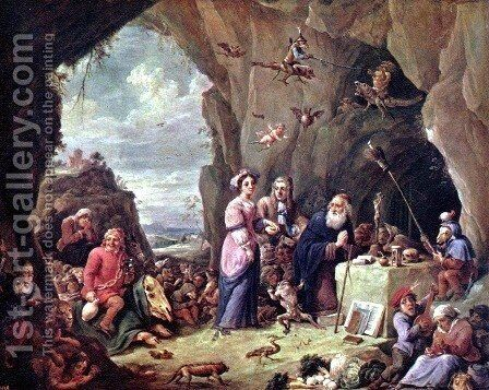 The Temptation of St. Anthony 6 by David The Younger Teniers - Reproduction Oil Painting