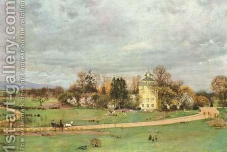 The wooden house park in Frankfurt am Main by Hans Thoma - Reproduction Oil Painting