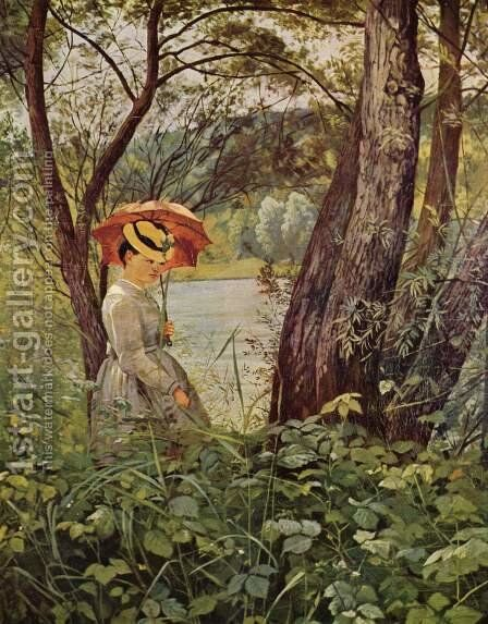 In the sunshine by Hans Thoma - Reproduction Oil Painting