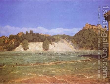 Rhine Falls near Schaffhausen by Hans Thoma - Reproduction Oil Painting