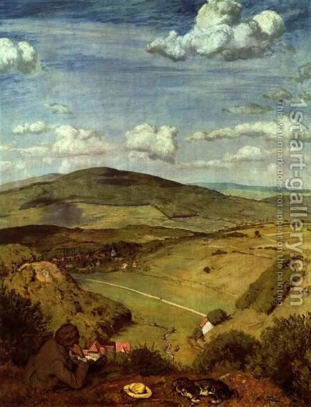 Taunus landscape by Hans Thoma - Reproduction Oil Painting