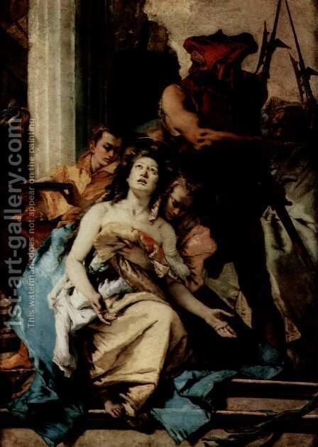 Martyrdom of St. Agatha by Giovanni Battista Tiepolo - Reproduction Oil Painting