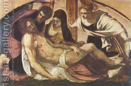 Lamentation of Christ by Jacopo Tintoretto (Robusti) - Reproduction Oil Painting