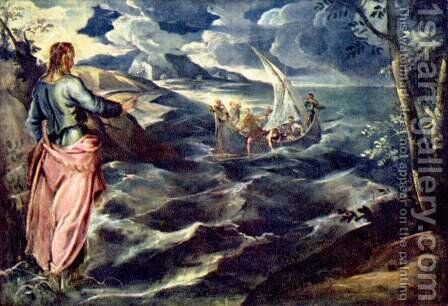 Christ on the Sea of Tiberias by Jacopo Tintoretto (Robusti) - Reproduction Oil Painting