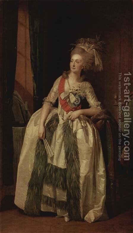 Portrait of Princess Saltykowa by Johann Friedrich August Tischbein - Reproduction Oil Painting
