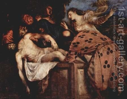 Entombment 3 by Tiziano Vecellio (Titian) - Reproduction Oil Painting