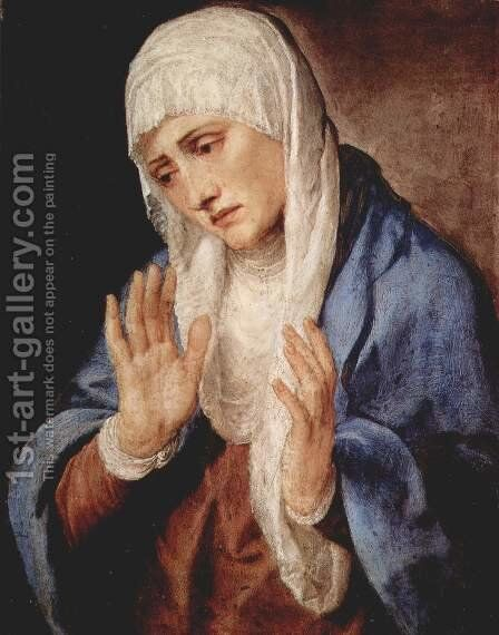 Our Lady of Sorrows by Tiziano Vecellio (Titian) - Reproduction Oil Painting