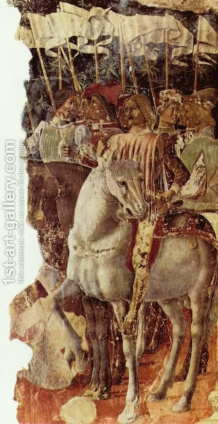 Group of knights, fragment by Cosme Tura - Reproduction Oil Painting