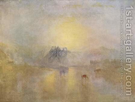 Norham Castle at sunrise by Turner - Reproduction Oil Painting