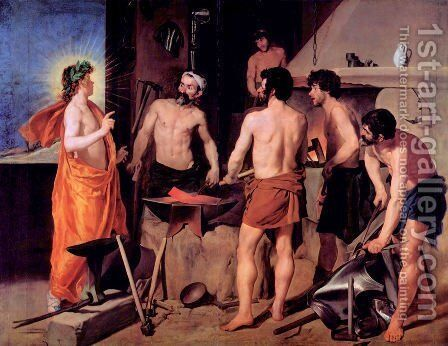 The smithy of volcano by Velazquez - Reproduction Oil Painting