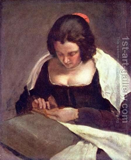 Sewing woman by Velazquez - Reproduction Oil Painting