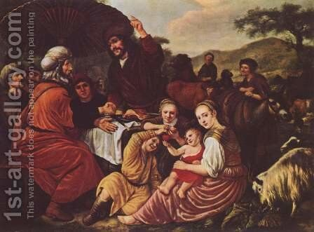 Moses' Parting Of Jethro by Jan Victors - Reproduction Oil Painting