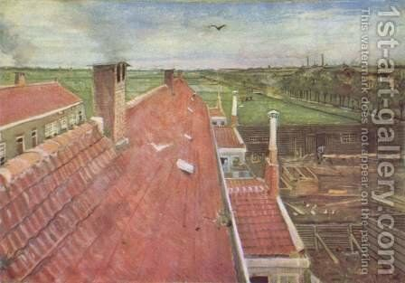 Roofs, view from the window of van Gogh's studio by Vincent Van Gogh - Reproduction Oil Painting