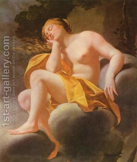 Sleeping Venus on clouds by (after) Simon Vouet - Reproduction Oil Painting