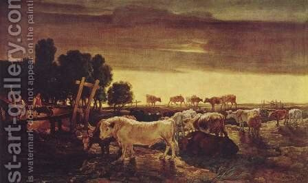 Cattle herd at the regent's park by James Ward - Reproduction Oil Painting