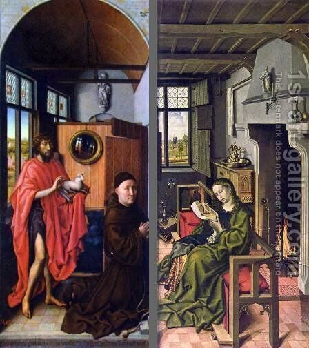 Werf triptych 1438, Prado, Madrid by Hans Werl - Reproduction Oil Painting