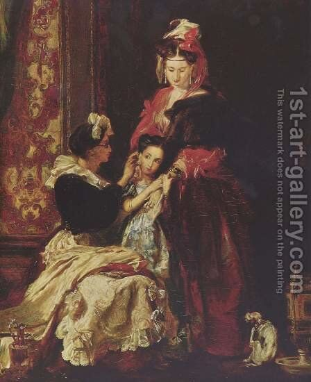 The first earring by Sir David Wilkie - Reproduction Oil Painting