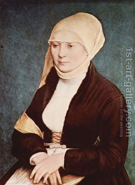 Portrait of a woman from southern Germany by (after) Holbein the Younger, Hans - Reproduction Oil Painting