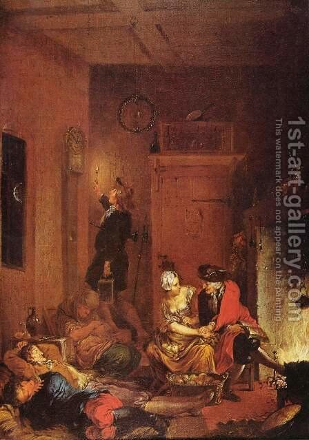 The Night Watch by Januarius Zick - Reproduction Oil Painting