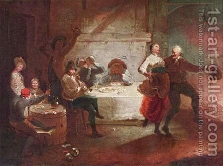 Dispute at the inn by Januarius Zick - Reproduction Oil Painting