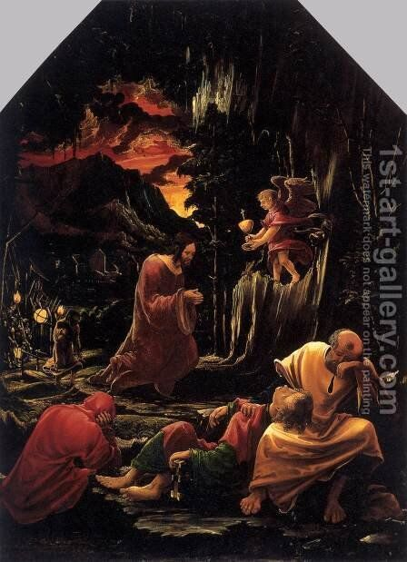 Christ in the Garden of Gethsemane by Albrecht Altdorfer - Reproduction Oil Painting
