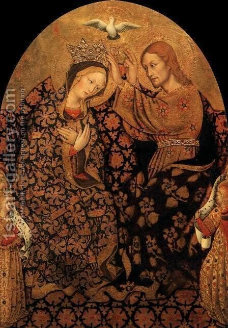 Coronation of the Virgin by Antonio Da  Fabriano - Reproduction Oil Painting