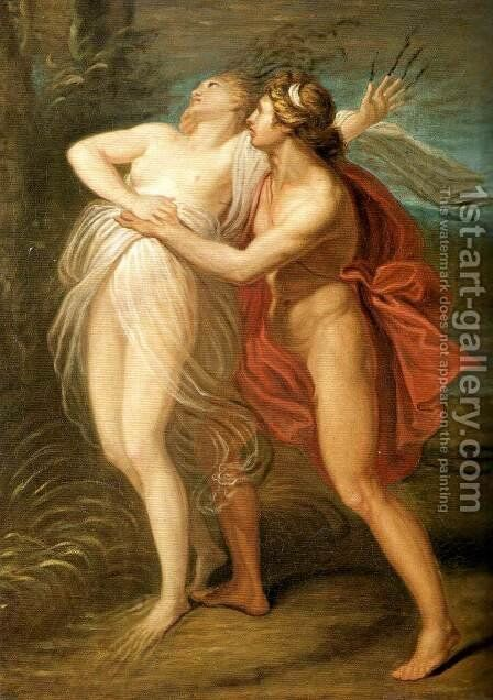 Apollo and Daphne by Andrea, the Elder Appiani - Reproduction Oil Painting