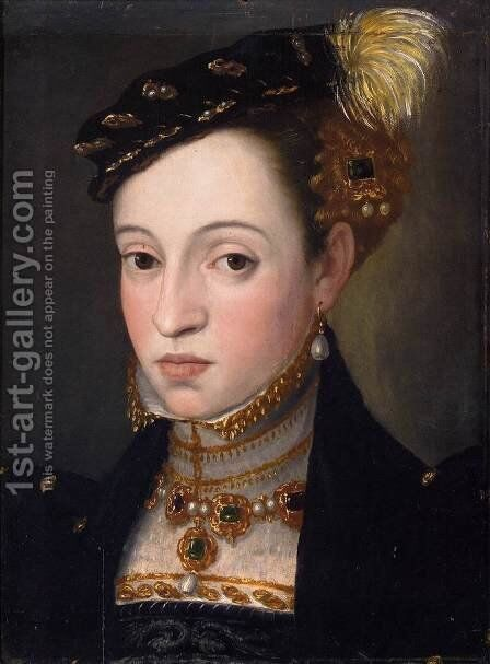 Bust of a Daughter of Ferdinand I by Giuseppe Arcimboldo - Reproduction Oil Painting
