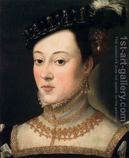 Bust of a Daughter of Ferdinand I 2 by Giuseppe Arcimboldo - Reproduction Oil Painting