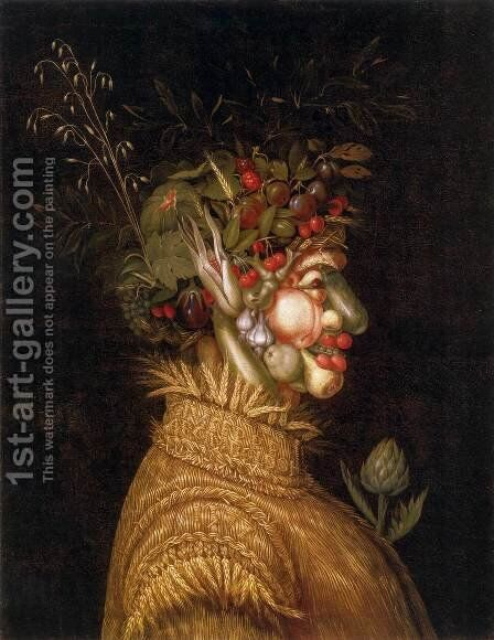 Summer 2 by Giuseppe Arcimboldo - Reproduction Oil Painting