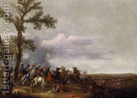 Cavalry Engagement by Jan Asselyn - Reproduction Oil Painting