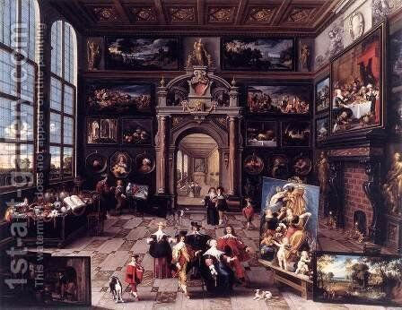 Gallery of a Collector by Cornelis de Baellieur - Reproduction Oil Painting