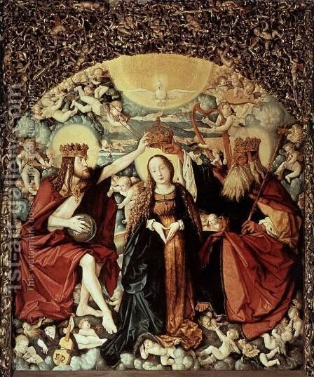 Coronation of the Virgin by Hans Baldung  Grien - Reproduction Oil Painting