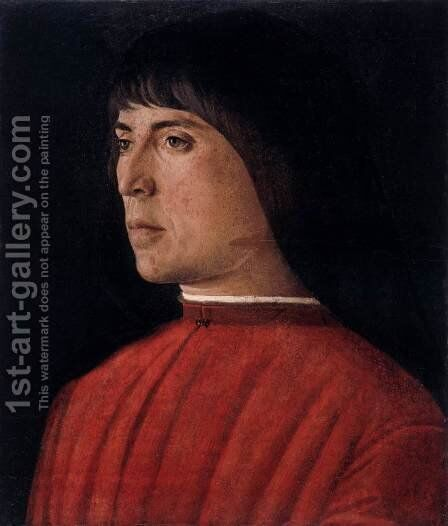Portrait of a Young Venetian by Giovanni Bellini - Reproduction Oil Painting