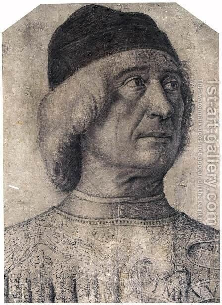 Bust of a Man by Giovanni Bellini - Reproduction Oil Painting