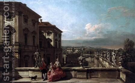 Liechtenstein Garden Palace in Vienna Seen from the East by Bernardo Bellotto (Canaletto) - Reproduction Oil Painting