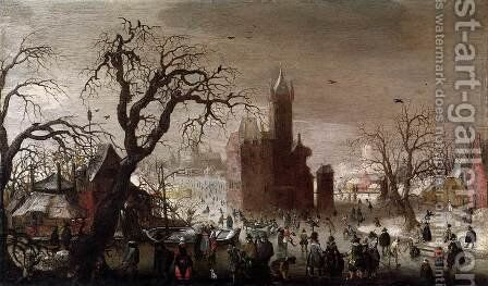Winter Landscape by Christoffel van den Berghe - Reproduction Oil Painting
