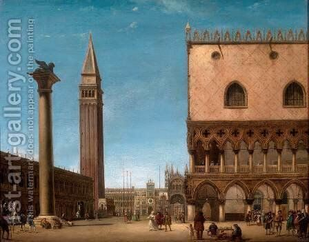 Piazza San Marco in Venice by Giuseppe Bernardino Bison - Reproduction Oil Painting