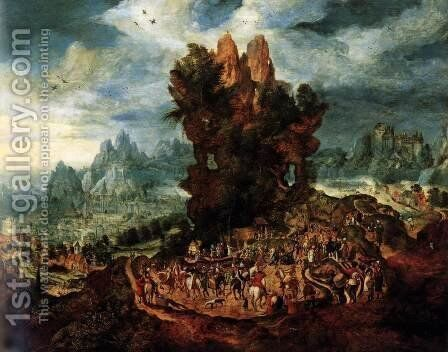 Christ Carrying the Cross by Herri met de Bles - Reproduction Oil Painting