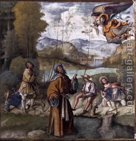 Annunciation to Joachim by Boccaccio Boccaccino - Reproduction Oil Painting