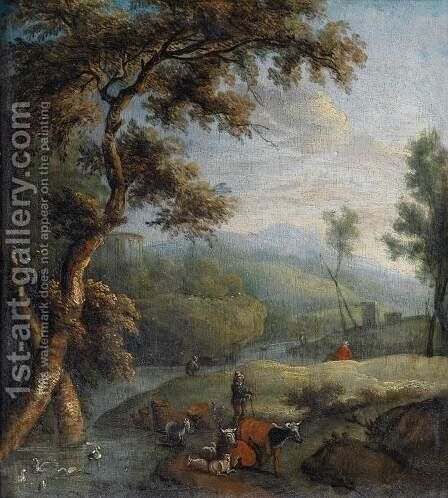 Southern Landscape by Johann Christian Brand - Reproduction Oil Painting