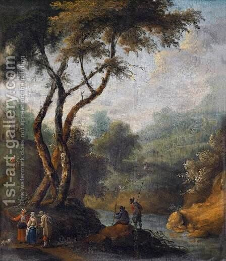 Southern Landscape 2 by Johann Christian Brand - Reproduction Oil Painting