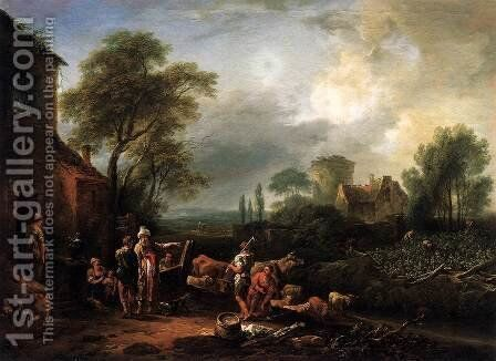 Parable of the Workers in the Vineyard by Johann Christian Brand - Reproduction Oil Painting