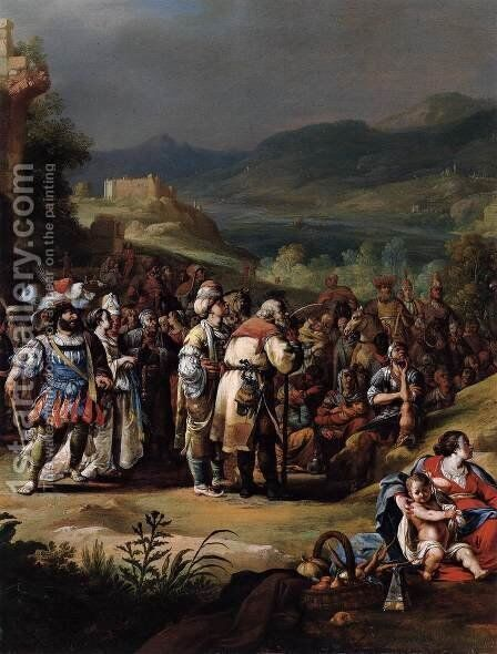 The Preaching of St John the Baptist (detail) by Bartholomeus Breenbergh - Reproduction Oil Painting